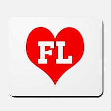 Big Heart Florida Mousepad