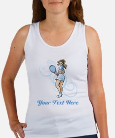 Female Tennis Player. Text. Women's Tank Top