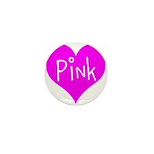 I Heart Pink Mini Button