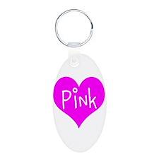 I Heart Pink Keychains