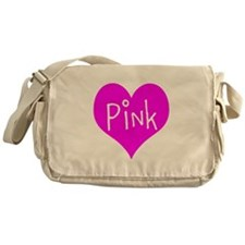 I Heart Pink Messenger Bag