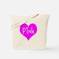I Heart Pink Tote Bag