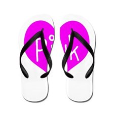 I Heart Pink Flip Flops