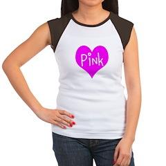 I Heart Pink Women's Cap Sleeve T-Shirt