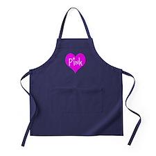 I Heart Pink Apron (dark)