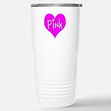 I Heart Pink Stainless Steel Travel Mug