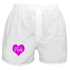 I Heart Pink Boxer Shorts