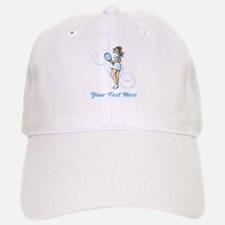 Female Tennis Player. Text. Baseball Baseball Cap
