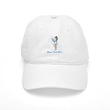 Female Tennis Player. Text. Cap
