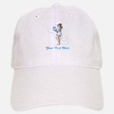 Female Tennis Player. Text. Cap