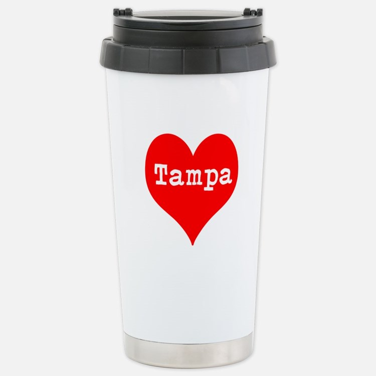 iHeart Tampa Stainless Steel Travel Mug