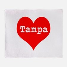 iHeart Tampa Throw Blanket