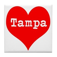 iHeart Tampa Tile Coaster