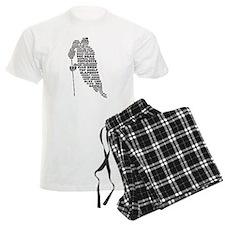 Language of Hockey (skater) Pajamas