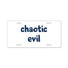 Chaotic Evil Aluminum License Plate