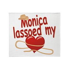 Monica Lassoed My Heart Throw Blanket