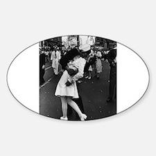 Sailors Kiss Best Sticker (Oval)