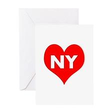 I Big Heart NY Greeting Card