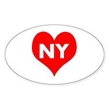 I Big Heart NY Decal