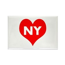 I Big Heart NY Rectangle Magnet