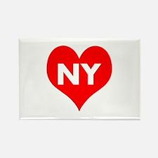 I Big Heart NY Rectangle Magnet