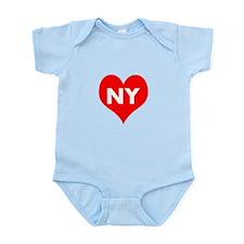I Big Heart NY Onesie