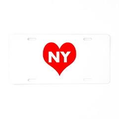 I Big Heart NY Aluminum License Plate