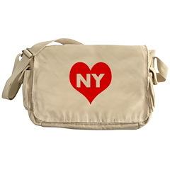I Big Heart NY Messenger Bag