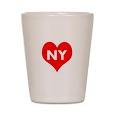 I Big Heart NY Shot Glass