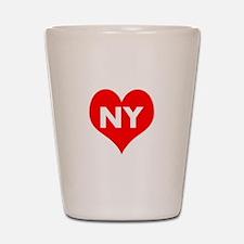I Big Heart NY Shot Glass