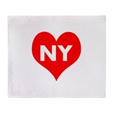 I Big Heart NY Throw Blanket