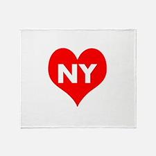 I Big Heart NY Throw Blanket