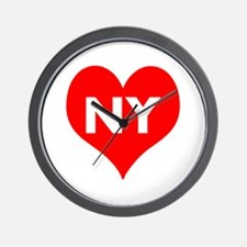 I Big Heart NY Wall Clock