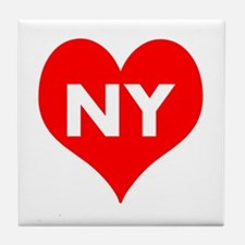 I Big Heart NY Tile Coaster