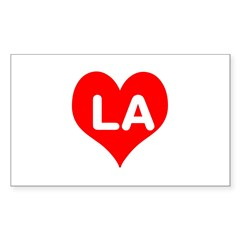 Big Heart LA Sticker (Rectangle)