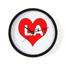 Big Heart LA Wall Clock
