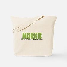 Morkie ADVENTURE Tote Bag