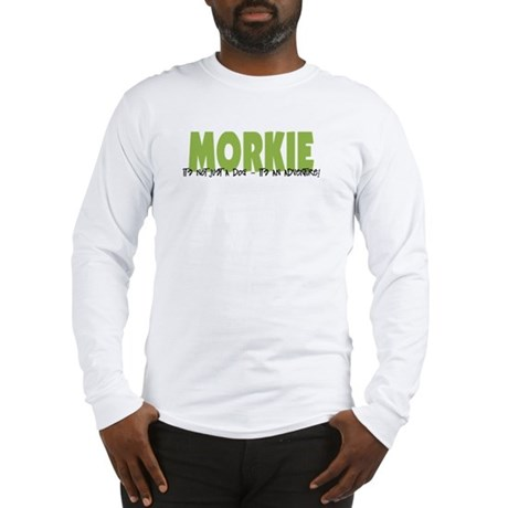 Morkie ADVENTURE Long Sleeve T-Shirt