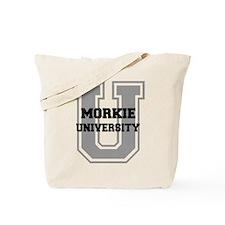 Morkie UNIVERSITY Tote Bag