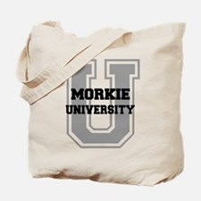 Morkie UNIVERSITY Tote Bag