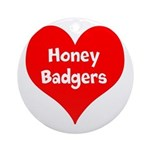 Big Heart Honey Badgers Ornament (Round)