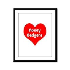 Big Heart Honey Badgers Framed Panel Print
