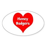 Big Heart Honey Badgers Sticker (Oval 10 pk)