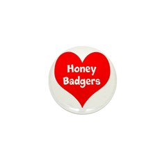 Big Heart Honey Badgers Mini Button (10 pack)