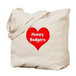 Big Heart Honey Badgers Tote Bag