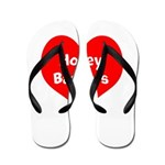 Big Heart Honey Badgers Flip Flops