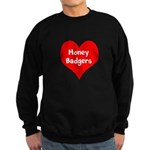 Big Heart Honey Badgers Sweatshirt (dark)