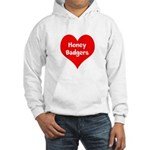 Big Heart Honey Badgers Hooded Sweatshirt