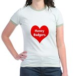 Big Heart Honey Badgers Jr. Ringer T-Shirt