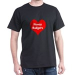 Big Heart Honey Badgers Dark T-Shirt
